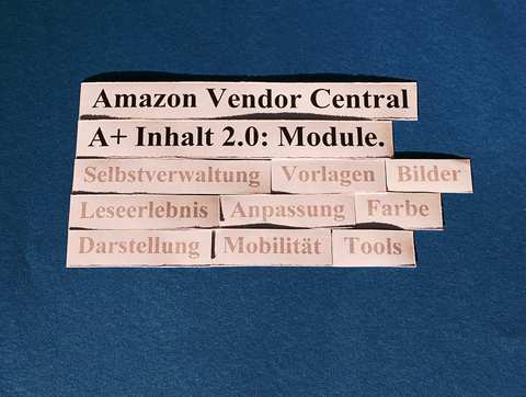 Amazon Vendor Central: A+ Inhalt 2.0: Module.