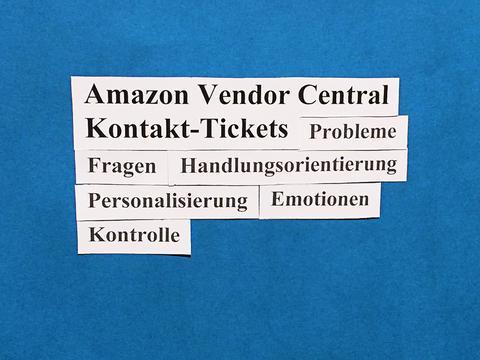 Amazon Vendor Central: Kontakt-Tickets meistern.