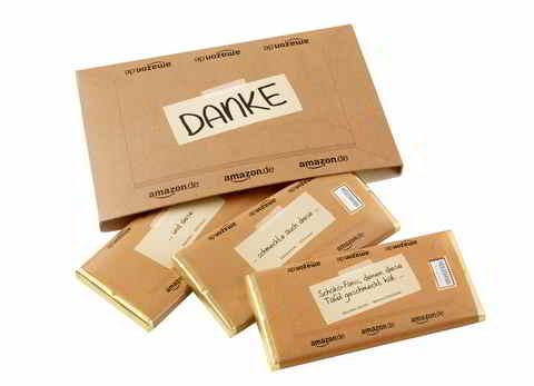 Amazon Danke-Nachbar-Schokolade (Packung & Tafeln) Quelle: http://amazon-presse.de/fileadmin/user_upload/images/Presse/Danke_Nachbar_2014/Amazon_Danke_Nachbar_Packung_Tafeln.jpg