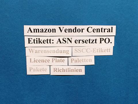 Amazon Vendor Central: ASN gibt neues Merkmal an.