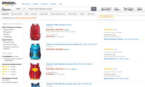 Amazon Marketplace, Produktdetails SERP, Quelle: Amazon.de