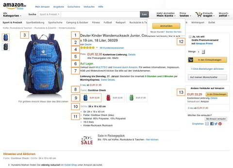 Amazon Marketplace, Produktdetailsite, Quelle: Amazon.de