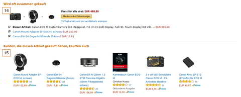 Amazon Marketplace, Marketing, Quelle: Amazon.de