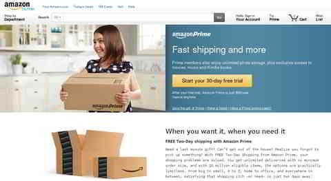 Screenshot: Amazon Prime US. Quelle: http://www.amazon.com/