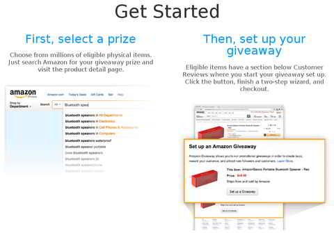 Screenshot: Get Started. Quelle: Amazon US