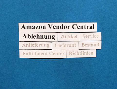 Amazon Vendor Central: Hinweise zur Ablehnung Ihrer Lieferung.