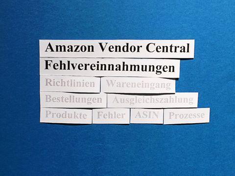 Amazon Vendor Central: Fehlvereinnahmungen (problem receive).