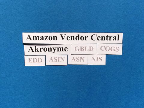 Amazon Vendor Central: Akronyme (EDD, COGS, ASN, NIS etc.).