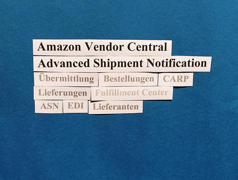 Amazon Vendor Central: Hinweise zur Advanced Shipment Notification (ASN).