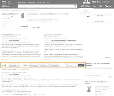 Amazon Bewertungen & Rezensionen. Quelle: Amazon US