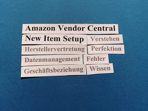 Amazon Vendor Central: New Item Setup abgeschlossen. Was nun?