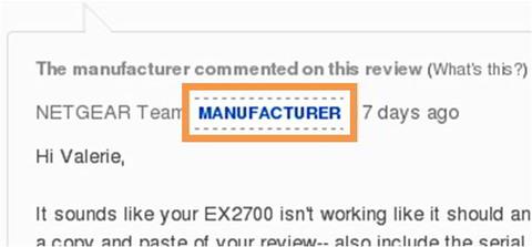 Screenshot: Amazon. Abzeichen: Offizieller Kommentar. Quelle: Amazon US
