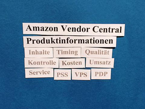 Amazon Vendor Central: Kontrolle über Ihre Produktinformationen.