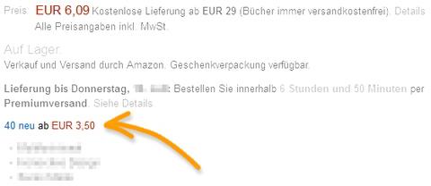 Amazon: Gesundheit Distributionskanäle. Quelle: Amazon.de