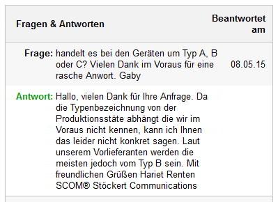Wertvolle Daten aus Marketplaces. eBay: Fragen und Antworten. Quelle: ebay.de
