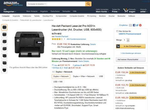 Hewlett Packard. Quelle: Amazon.de
