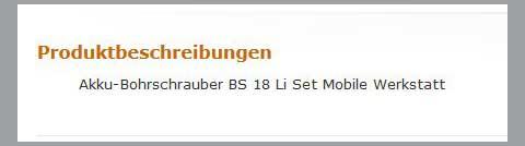 Schlechte Produktbeschreibung. Quelle: Amazon.de