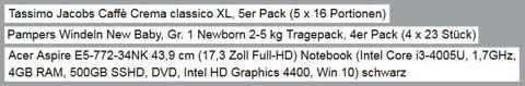 Amazon Produktlistungen: Gute Produkttitel. Quelle: Amazon.de