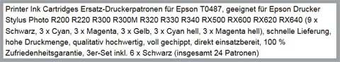 Schlechter Produkttitel. Quelle: Amazon.de