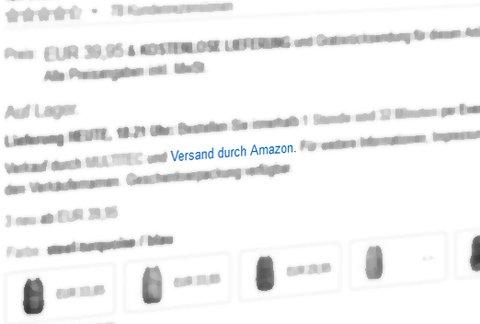 Versand durch Amazon: Online Einkaufserlebnis