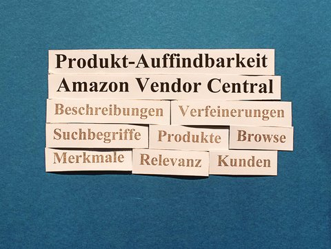 Amazon Vendor Central: Produkt-Auffindbarkeit.
