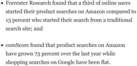 Wer konkurriert mit Google bei Suchanfragen? Nur Amazon, Apple und Facebook. Quelle: Forbes.com
