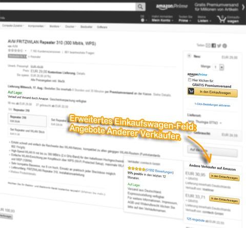Amazon Ranking: Einkaufswagen-Feld (Buy Box): Andere Verkäufer.