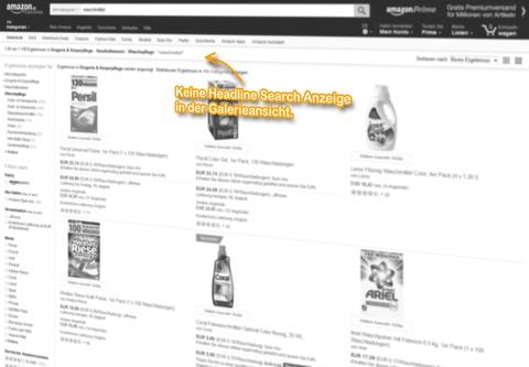 SERP Galerieansicht, keine Headline Search Anzeige für den Suchbegriff: [waschmittel].