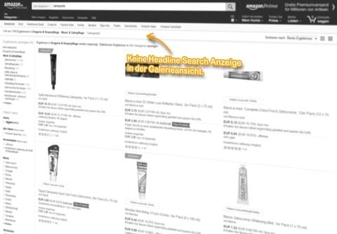 SERP Galerieansicht, keine Headline Search Anzeige für den Suchbegriff: [zahnpasta].