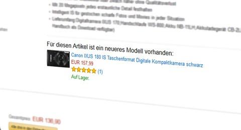 Ihr Produkt als Nachfolge-Widget bei Amazon. Quelle: Amazon.de