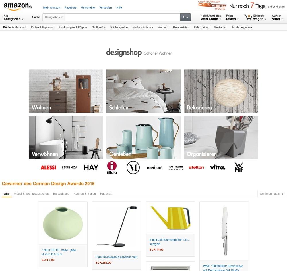 Design amazon startet neuen home designshop for Amazon design shop
