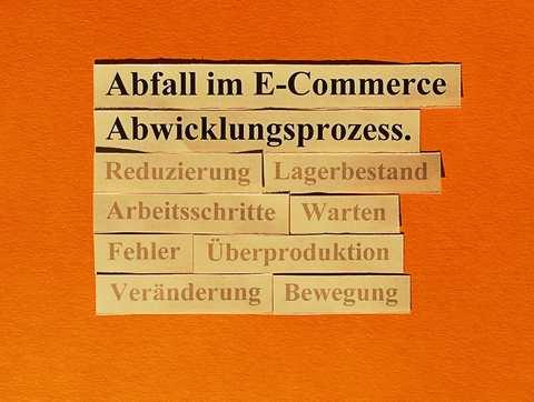 Reduzierung und Beseitigung von Abfall im E-Commerce Abwicklungsprozess.
