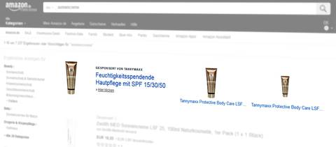 Amazon Marketing Services (jetzt Amazon Advertising): Headline Search Ad, Suchbegriff [sonnencreme] (Desktop). Quelle: Amazon.de