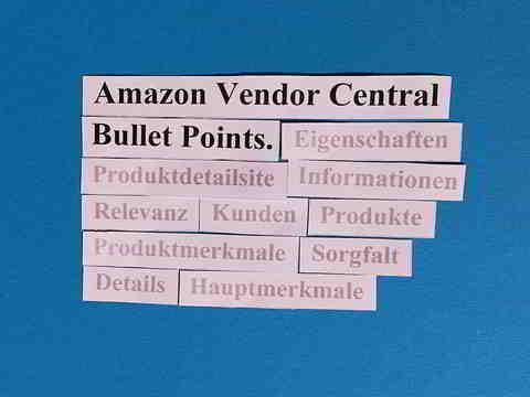 Amazon Vendor Central: Bullet Points für Amazon schreiben, damit Kunden Ihr Produkt verstehen.