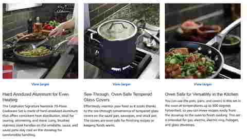 Amazon Produktbilder: Calphalon: Alles ordentlich zusammengerührt. Quelle: Amazon.com