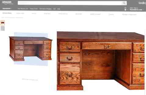 Schreibtisch: Einfach nur lieb- und detaillos. Quelle: Amazon.com