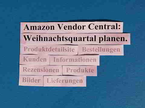 Amazon Vendor Central: Weihnachtsquartal auf Amazon planen und Umsätze steigern.