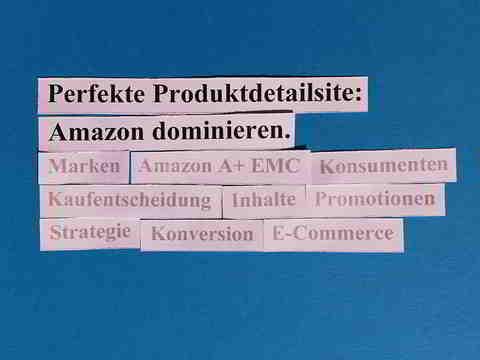 Die Perfekte Produktdetailsite dominiert das digitale Warenregal und Amazon.