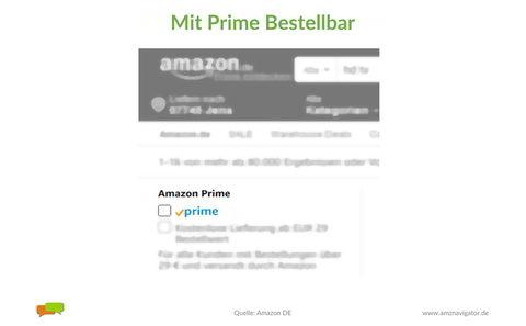 Amazon Prime: Mit Prime Bestellbar