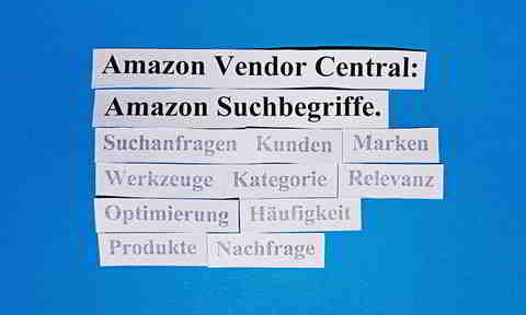 Amazon Vendor Central: Relevante Amazon Suchbegriffe finden.