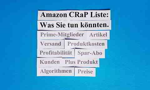 Amazon CRaP Liste und Ihre Möglichkeiten, Damit Umzugehen.
