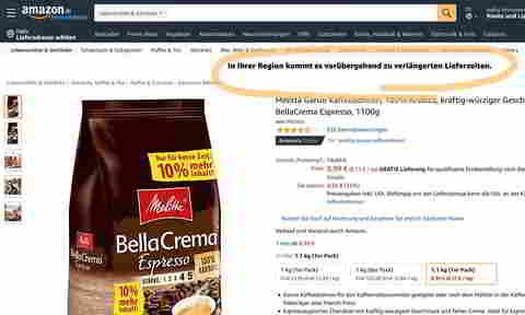 Amazon DE priorisiert Produkte bestimmter Kategorien, Quelle: Amazon DE