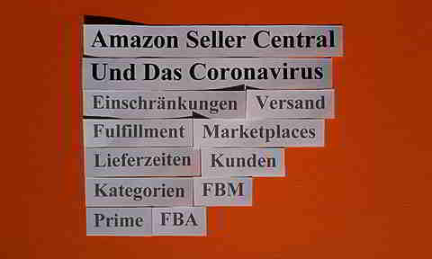 Amazon Seller Central und das Coronavirus