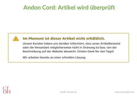 Item Under Review Amazon DE