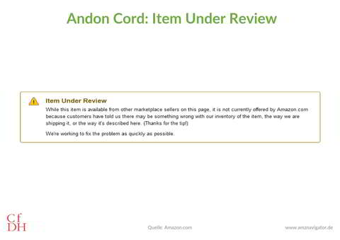 Item Under Review Amazon US