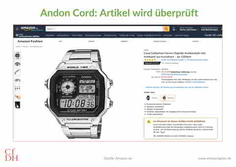 Amazon Andon Cord Casio