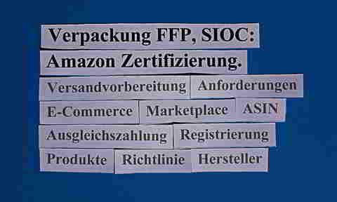 Verpackung FFP, SIOC, ECR: Amazon Zertifizierung.