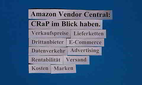 Amazon Vendor Central: CRaP im Blick haben.