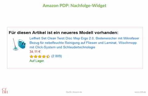 Amazon PDP: Nachfolge-Widget