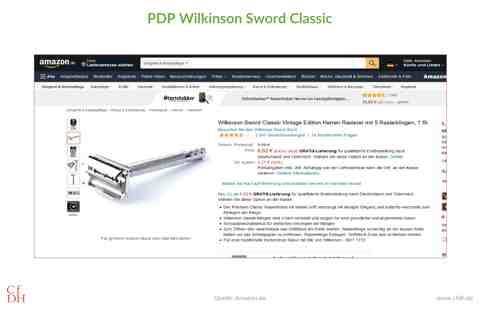 Wilkinson Sword Classic PDP Amazon Verhaltensregeln